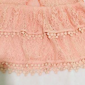 Free People Tops - Free People Peplum Knit Blouse Size XS Pale Pink